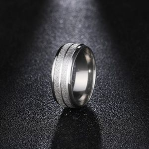 silver color Stainless Steel Ring